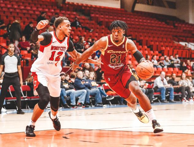 Canton Charge forward Tyler Cook drives to the basket against the Windy City Bulls
