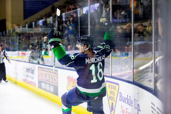 Michael McNicholas of the Maine Mariners