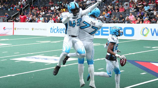 Defensive back Tyrell Robinson with the Philadelphia Soul