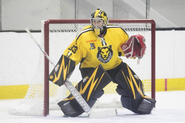 Boston Pride goaltender Victoria Hanson