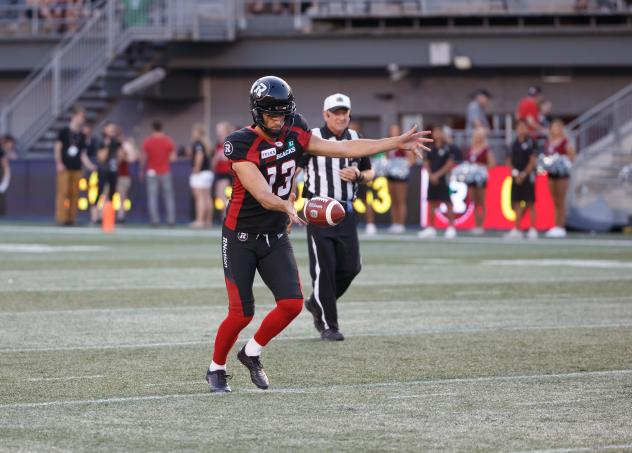 Ottawa RedBlacks punter Richie Leone