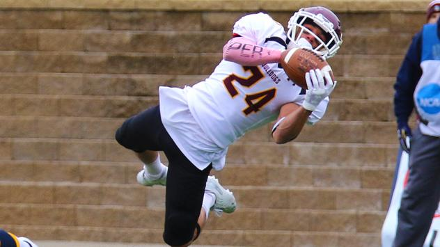 Defensive back Tareq Abulebbeh with the University of Minnesota Duluth