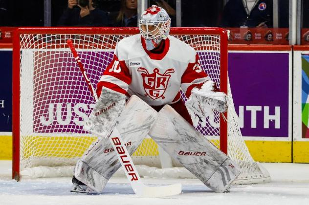 Grand Rapids Griffins goaltender Filip Larsson