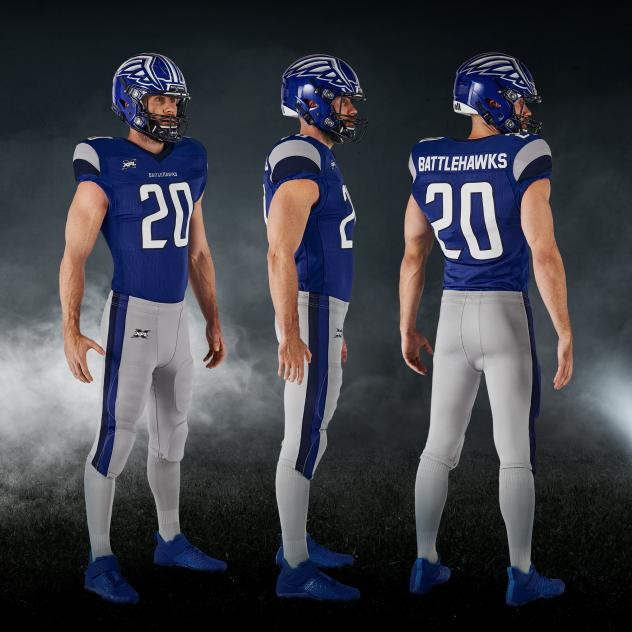 St. Louis Battlehawks blue uniform