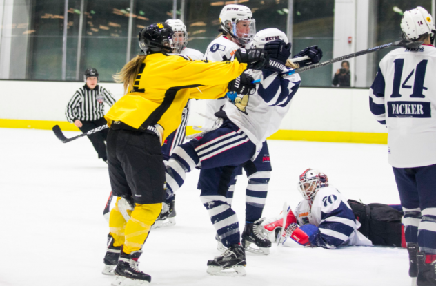 Metropolitan Riveters mix it up with the Boston Pride