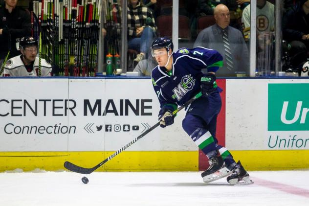 Jake Elmer of the Maine Mariners