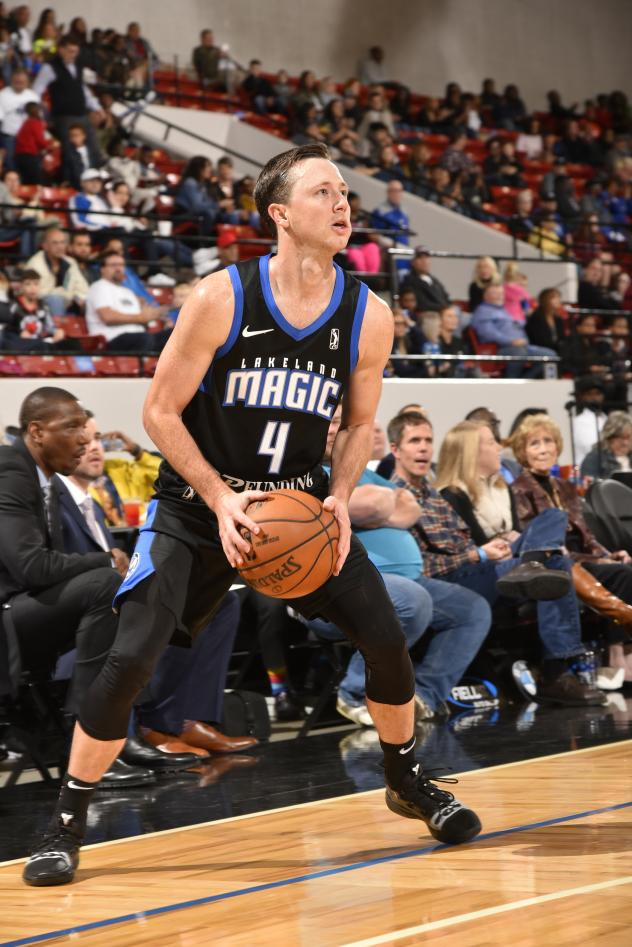 Josh Magette of the Lakeland Magic eyes the basket