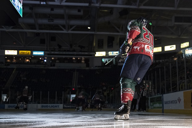 Florida Everblades right wing Justin Auger