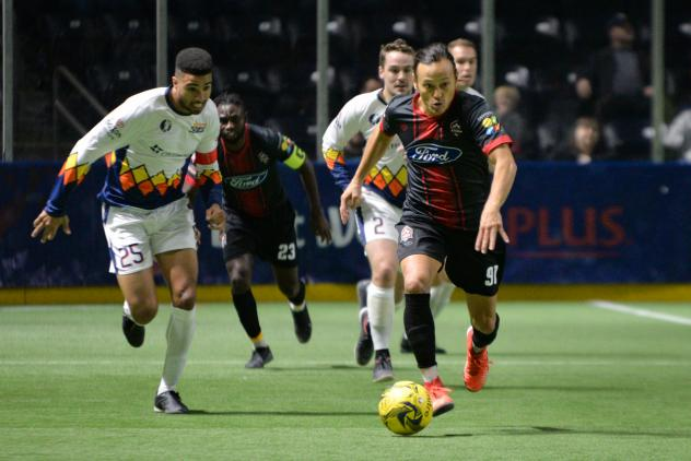 Ontario Fury midfielder Joseph Cairel vs. the Tacoma Stars