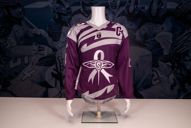 Georgia Swarm Lacrosse Out Cancer Night jersey