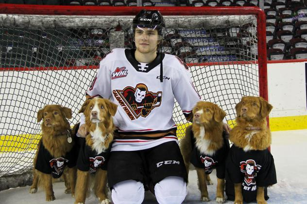 Riley Stotts of the Calgary Hitmen ready for 8th Annual Pucks for Paws