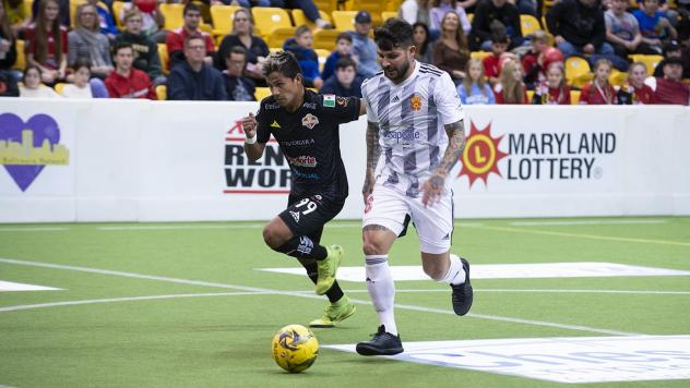 Lucas Roque (right) in his return with the Baltimore Blast vs. Soles de Sonora
