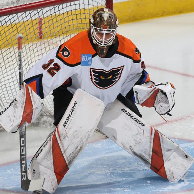 Lehigh Valley Phantoms goaltender Felix Sandstrom