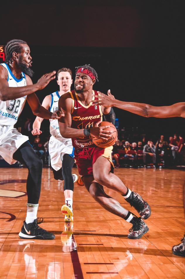 Canton Charge guard Malik Newman drives vs. the Lakeland Magic