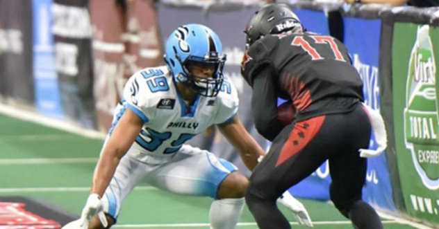 Defensive back Kyle Chandler with the Philadelphia Soul