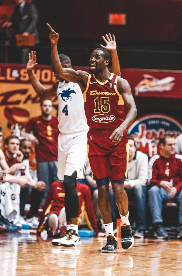 Canton Charge guard/forward Sir'Dominic Pointer vs. the Delaware Blue Coats