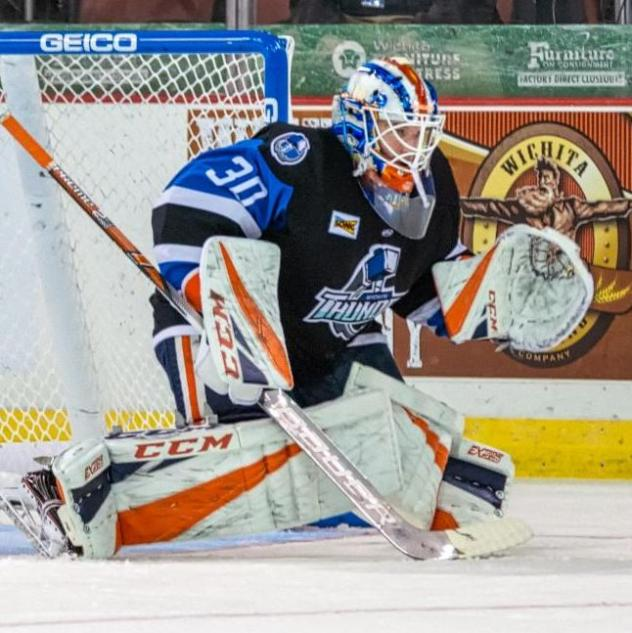 Wichita Thunder goaltender Dylan Wells