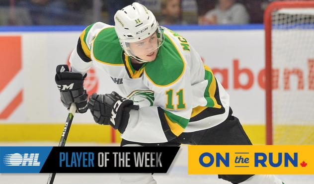 Connor McMichael of the London Knights
