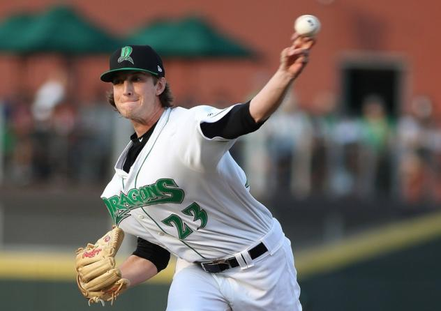 Pitcher Nick Lodolo with the Dayton Dragons