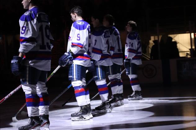Madison Capitols in their Miracle on Ice jerseys