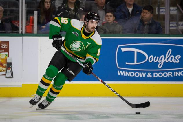 Liam Foudy of the London Knights
