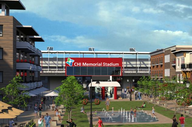 CHI Memorial Stadium, home of the Chattanooga Red Wolves