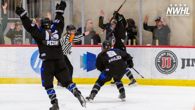 Minnesota Whitecaps celebrate Allie Thunstrom's overtime goal