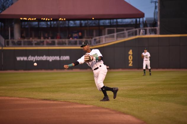 Dayton Dragons second baseman Jonathan Willems