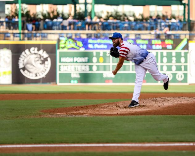 Pitcher Matt Purke with the Sugar Land Skeeters