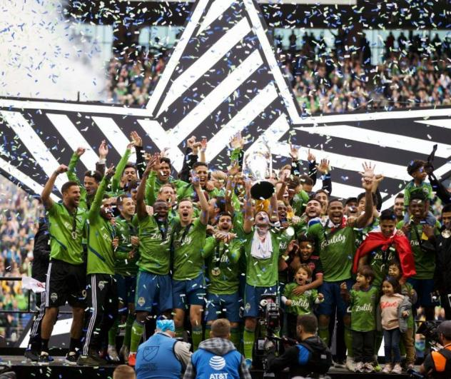 Seattle Sounders FC celebrate 2019's MLS Cup victory