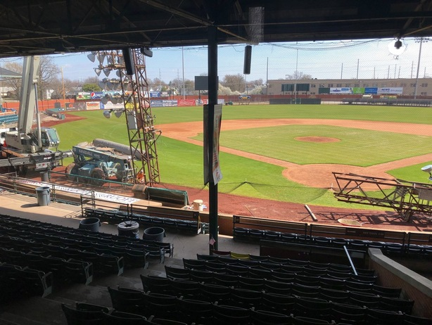 Renovations at Bosse Field, home of the Evansville Otters