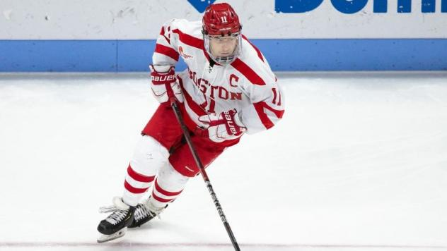 Forward Patrick Curry with Boston University