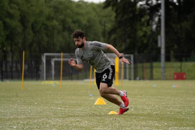 Joao Paulo of Seattle Sounders FC works out Monday