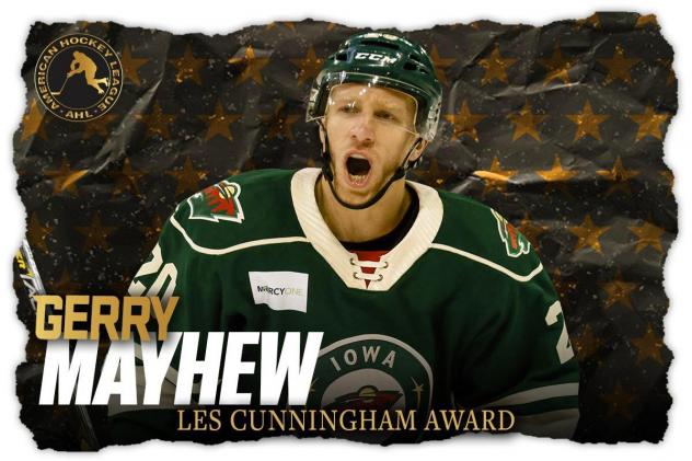 Iowa Wild forward Gerry Mayhew
