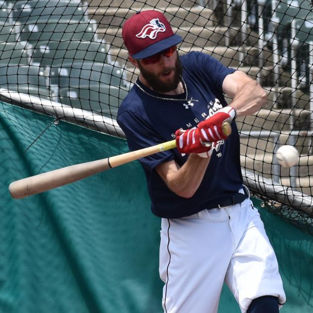 Justin Pacchioli of the Somerset Patriots