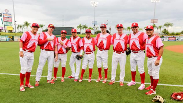 Clearwater Threshers in their Pitch for Pink jerseys