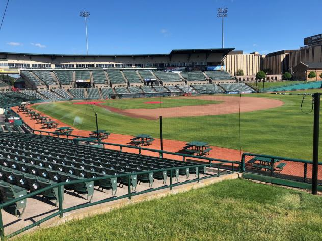 Extended fan safety netting at Frontier Field, home of the Rochester Red Wings