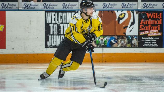 Forward Ryan Alves with the Battle Creek Rumble Bees