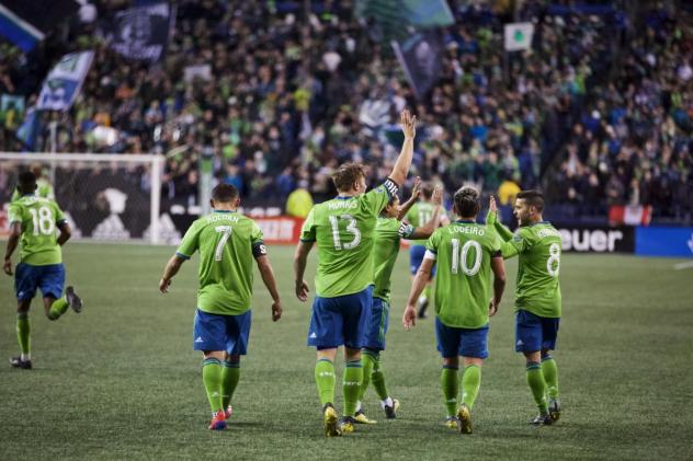 Seattle Sounders FC during the 2019 home opener