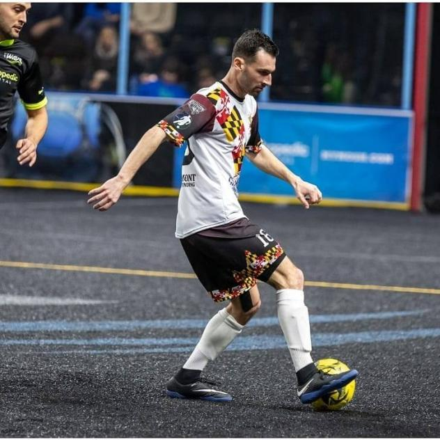 Defender Sam Guernsey with the Baltimore Blast