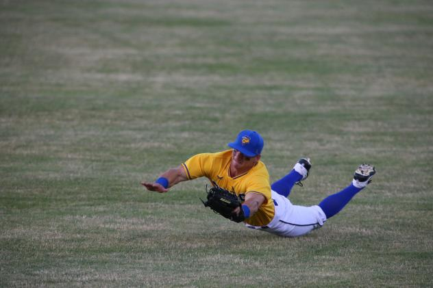 Sioux Falls Canaries make a diving effort in the outfield