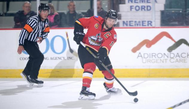 Peter MacArthur with the Adirondack Thunder
