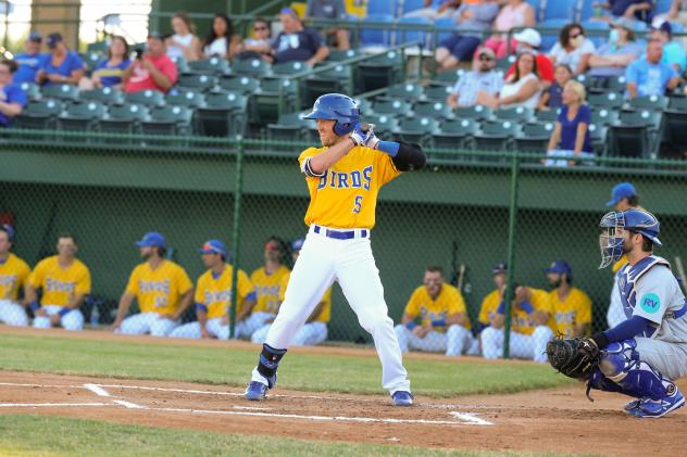 Andrew Ely of the Sioux Falls Canaries at the plate