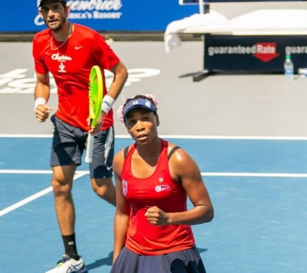 Venus Williams and Marcelo Arevalo of the Washington Kastles
