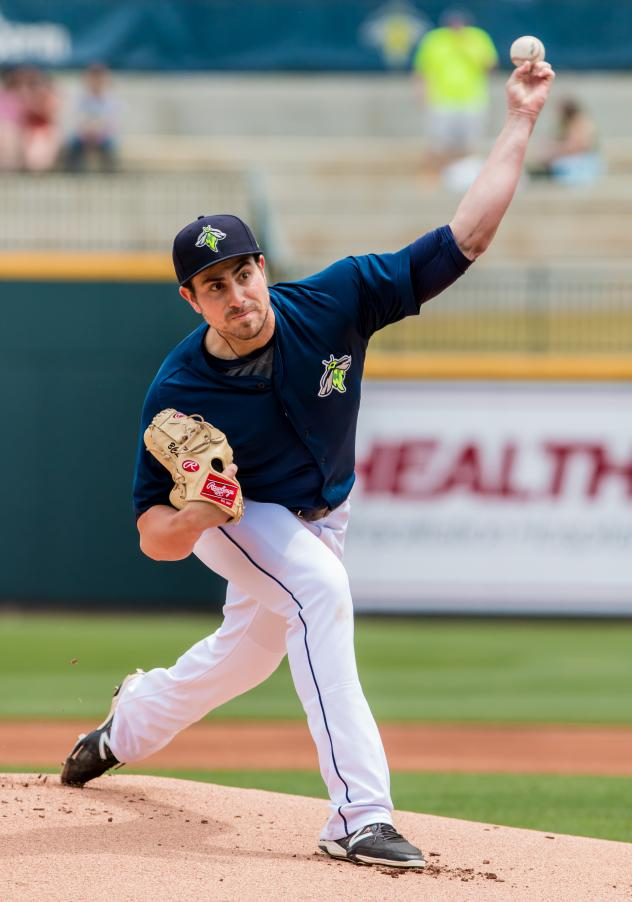 Pitcher Blake Taylor delivers for the Columbia Fireflies