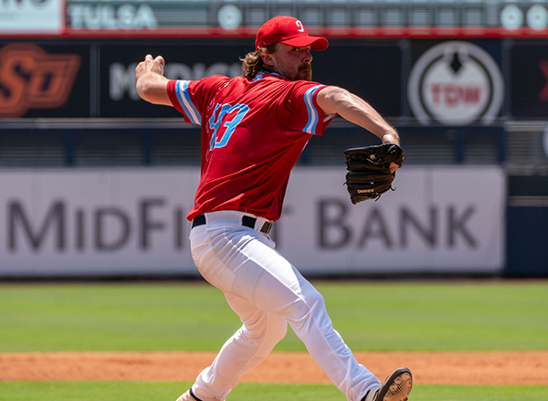 Colton Williams worked three perfect innings for the Tulsa Drillers