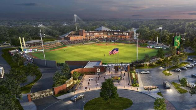 Rendering of new Beloit baseball stadium