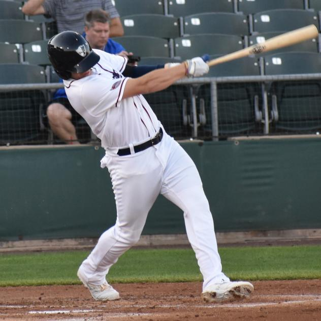 Connor Justus of the Somerset Patriots
