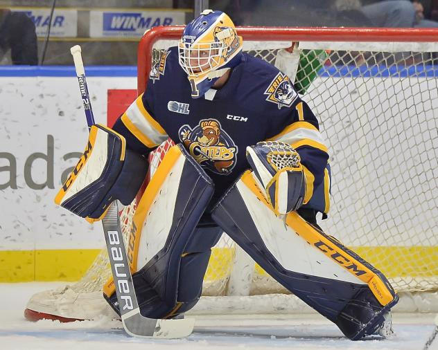 Goaltender Daniel Murphy with the Erie Otters