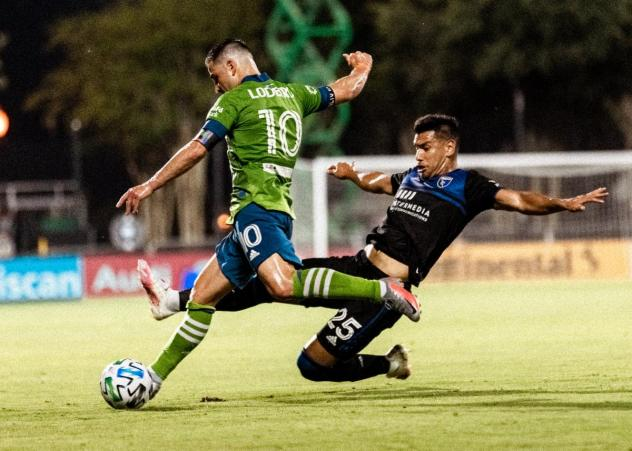 Seattle Sounders FC and the San Jose Earthquakes played to a scoreless draw on July 10